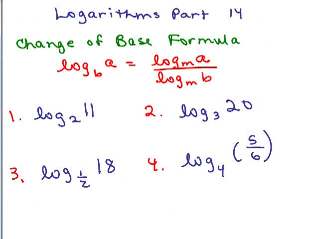 Use the change of base formula to convert log