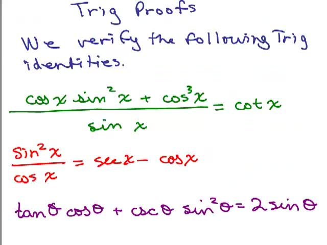 trig proof help video in high school math trig pre calc  trig proof 1 help video in high school math trig pre calc math help videos online by com