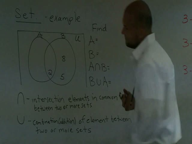 Intersection And Union Using A Venn Diagram Help Video In High