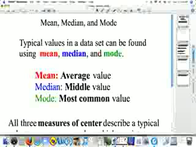mean median and mode videos for high school math statistics help  mean median and mode preview image