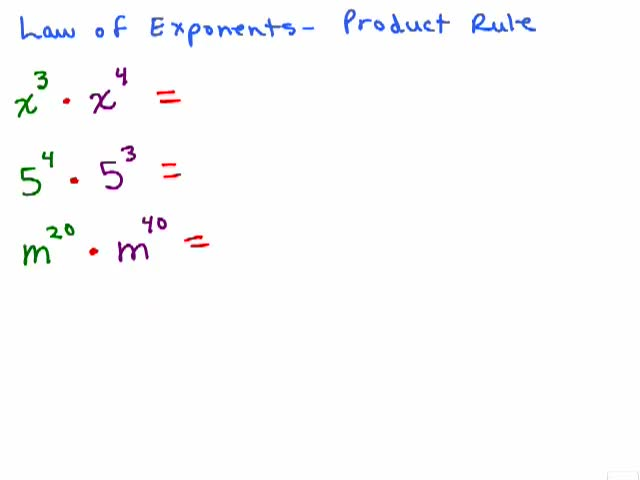 Exponent Product And Quotient Rule Worksheet Exponents