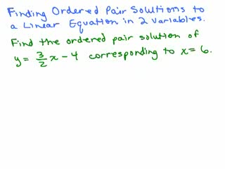 Graphing 3 - Finding ordered pair solutions to equations preview image