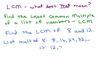 Least Common Multiple and Greatest Common Factor videos