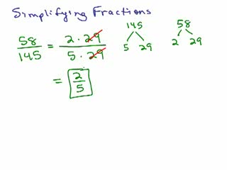 Fractions 3 - Simplify and Reduce Part 2 preview image