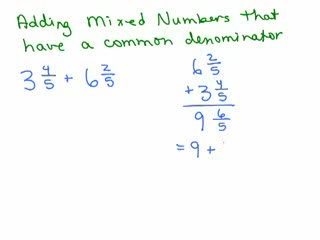 How to Add Fractions with a common denominator part 2 preview image