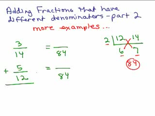 How to Add Fractions with unlike denominators part 2 preview image