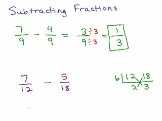How to Subtract Fractions Part 1 preview image