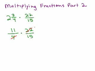 How to Multiply Fractions part 2 preview image