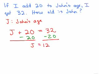 Algebraic Word Problems videos