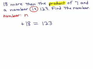 Basic Algebra Word Problems 3 preview image