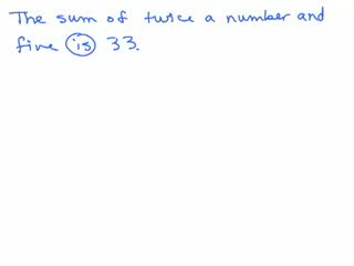 Basic Algebra Word Problems 4 preview image