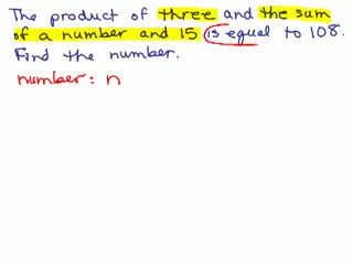 Basic Algebra Word Problems 5 preview image