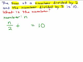 Basic Algebra Word Problems 7 preview image