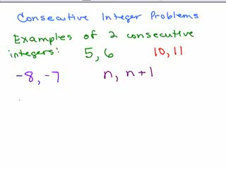 Consecutive Integer Problem 1 preview image
