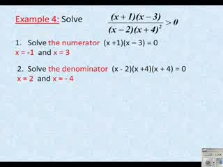 Solving Rational Inequalities preview image