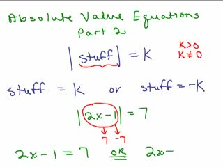 Absolute Value Equations 2 preview image