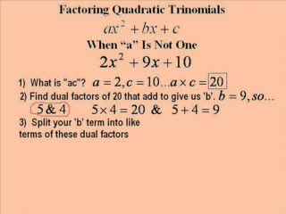 Factoring by Grouping, Quadratic Trinomials preview image