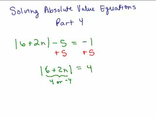 Absolute Value Equations 4 preview image