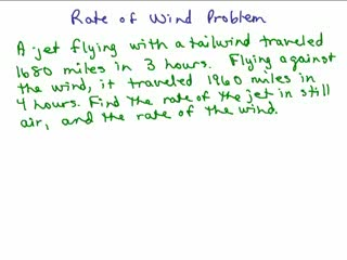 Rate of wind problem preview image