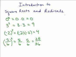 Intro to Square Roots videos