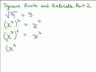 Square Roots and Radicals 2 preview image