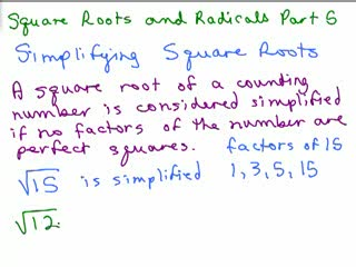 Square Roots and Radicals 5 preview image