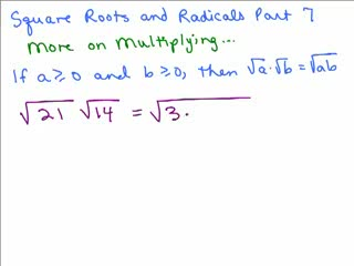 Square Roots and Radicals 7 preview image