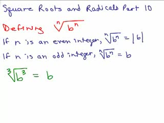 Square Roots and Radicals 10 preview image