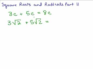 Square Roots and Radicals 11 preview image