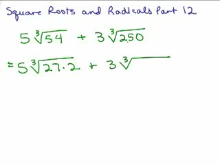 Square Roots and Radicals 12 preview image