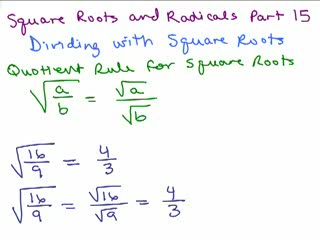 Square Roots and Radicals 15 preview image