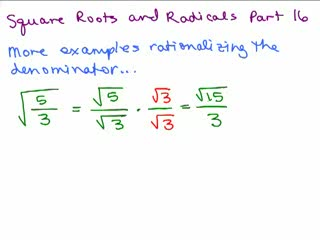 Square Roots and Radicals 16 preview image