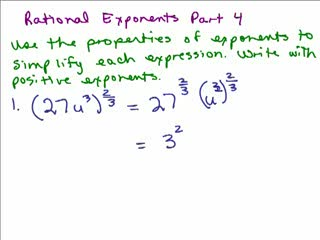 Rational Exponents 4 preview image
