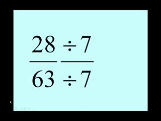 Equivalent Fractions - Finding the Lowest Terms preview image