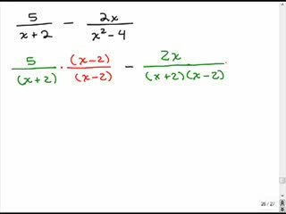 Adding rational expressions with different denominators 2 preview image