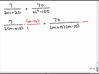 Adding rational expressions with different denominators 4 preview image