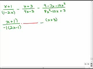Adding rational expressions with different denominators 6 preview image