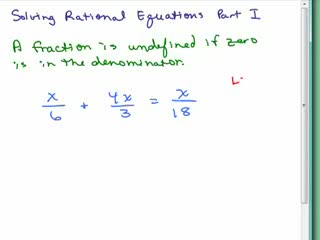 Solving Rational Equations videos