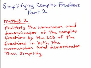 Simplify Complex Fractions 2 preview image