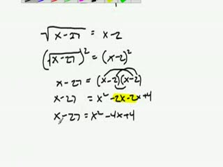 Solving Radical Equations Example preview image
