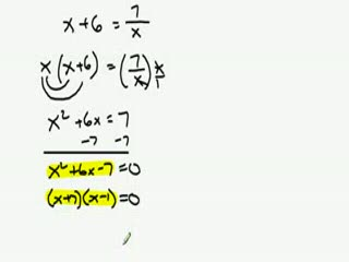 Solving Rational Equations Example preview image