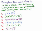 Multiplying Complex Numbers videos