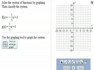Solving systems of linear equations by graphing preview image