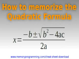 How To Memorize The Quadratic Formula preview image