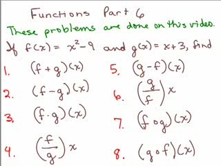 Composite Functions videos