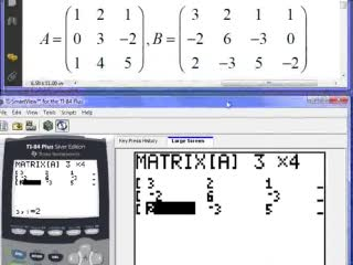 [C.13] Entering a Matrix on a graphing calculator preview image