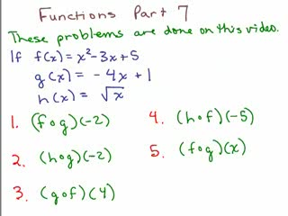 Functions 7 - Composite functions preview image