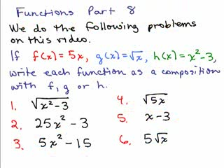 Functions 8 - Composite functions preview image