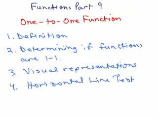 Properties of Functions videos