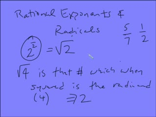Rational Exponents and Radicals preview image